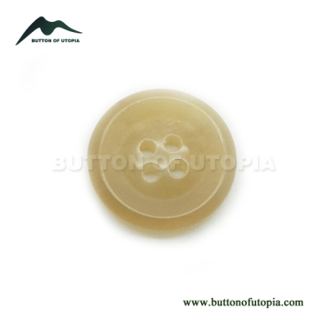 Classic Luxury Natural Real Yellow Horn Button Round 4 Holes Designer Buttons