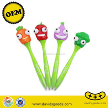 funny eye pop out vegetables cheap promotional ball pen