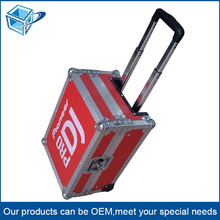 Luggage Aluminum make up trolley case /Aluminum suitcase with wheels / Aluminum waterproof draw-bar box