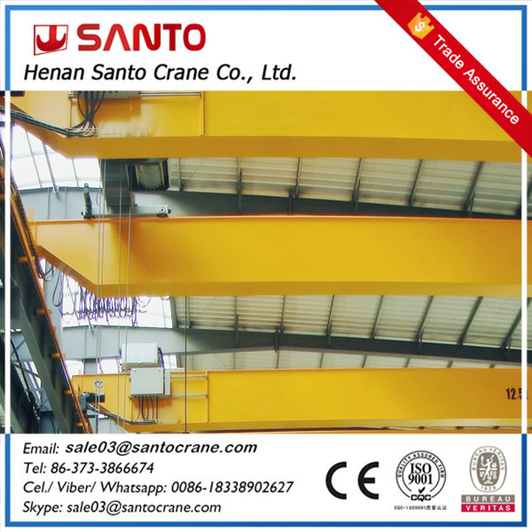 QD model new designed motor-driven eot overhead crane 35 tons with ce