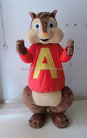 2016 Newest Alvin and Chipmunk mascot costumes