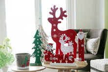 2017 New design Christmas felt ornaments felt christmas decoration