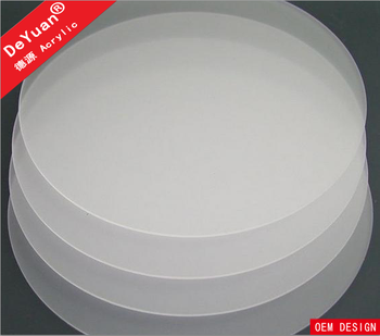 Milk white round shape pmma / acrylic diffuser sheet wholesale