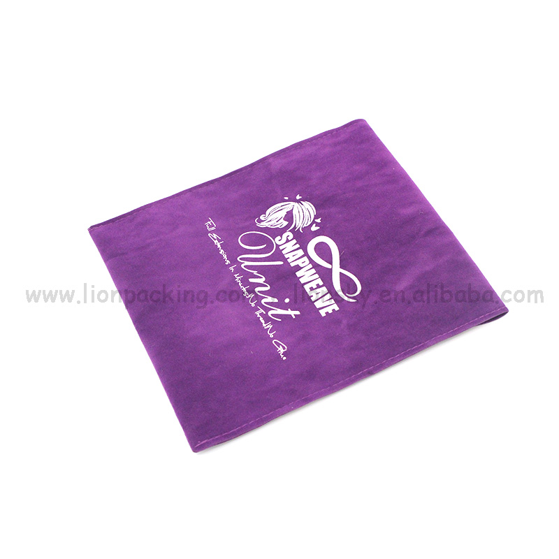 Great Logo Recyclable purple suede bag