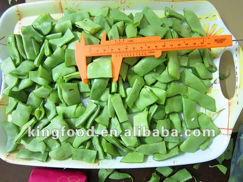 Green frozen romano beans cut