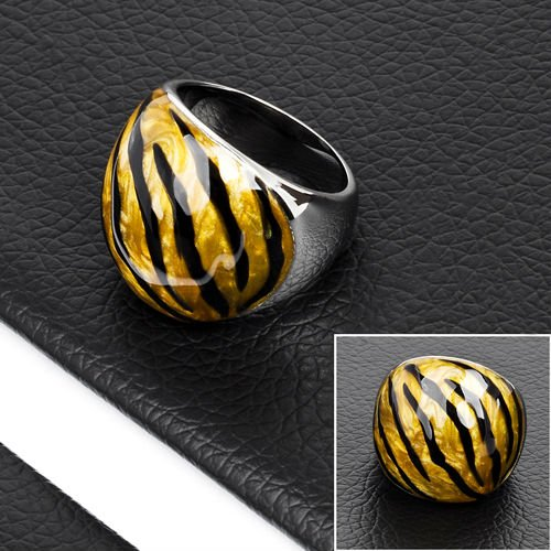 Fashion Stainless Steel Stone Energy Power Ring(DR10069)