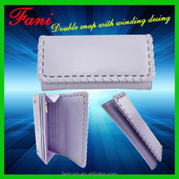 Elegant appearance wit frame winding design leather clutch purse bag for women