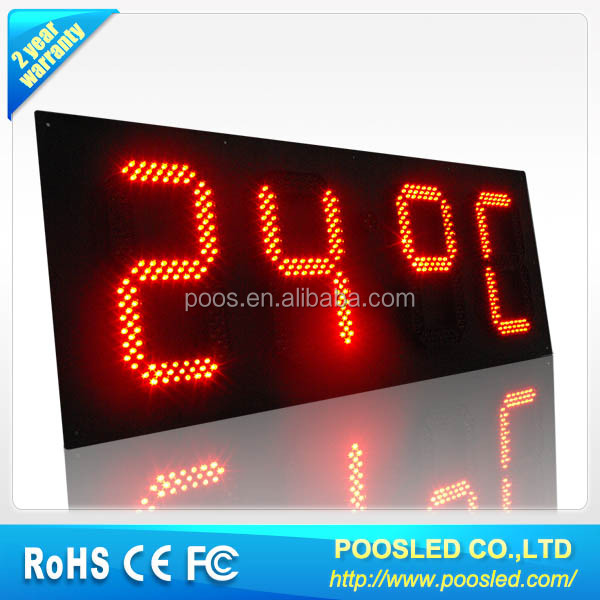 time signage billboard  time clock display signage  time screen banner