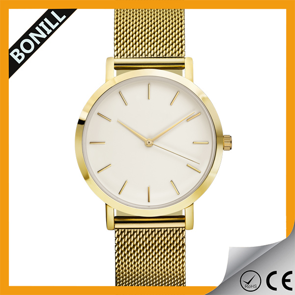 Fashipon mesh qaurtz watch with sapphire glass price western watches swiss