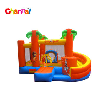 Animal bouncer combo inflatable jumping castle inflatable bouncer with slide