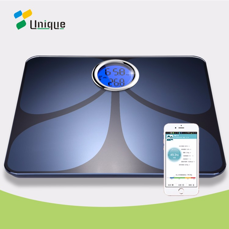 OEM digital bathroom body fat weighing bone density smart bluetooth analyzing scale