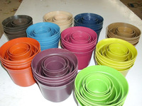 Biodegradable flowerpot bio plant fiber flower pot on sale