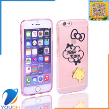 Colorful transparent soft tpu silicone 3d cute animal phone case for iPhone 6 6s 6 plus 6s plus hello kitty