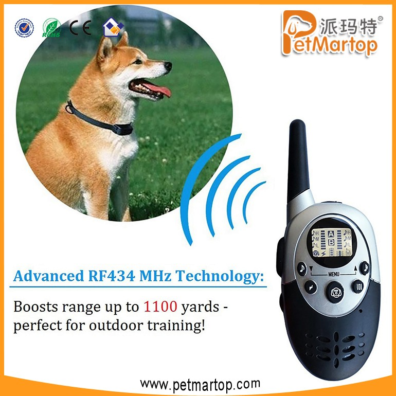 2017 Rechargeable Waterproof Remote Electric Shock Dog Training Collar For Two Dogs TZ-PET613N