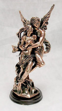 tin loving angels couples figures,pewter alloy fairy sculptures
