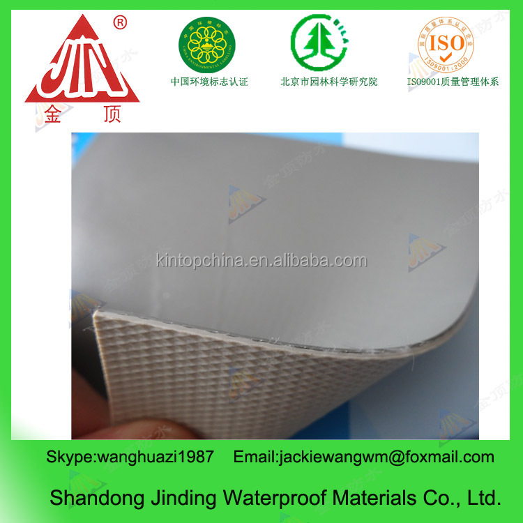 white reinforced roofing pvc membrane with fabric