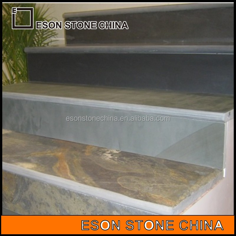 Eson Stone hot sell china multicolor slate steps, colors outdoor step and stairs