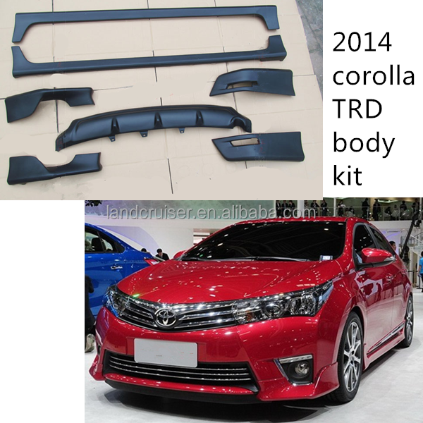 new 2014 Corolla TRD upgrade facelift body kit