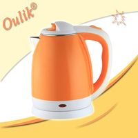 Orange 1.5L Double Jacketed Electric Kettle
