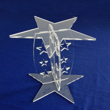 Detachable Star Shaped Clear Acrylic Cupcake Stand Lucite Dessert Holder