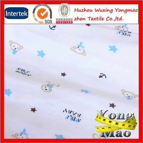 Huzhou digital printing cotton knitted single jersey fabric stock lot