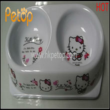 Plastic Kitty Food & Water Mixing Cat Bowl