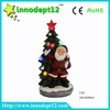 Resin craft Christmas decoration tree with santa and snowman , led light decoration,battery operated