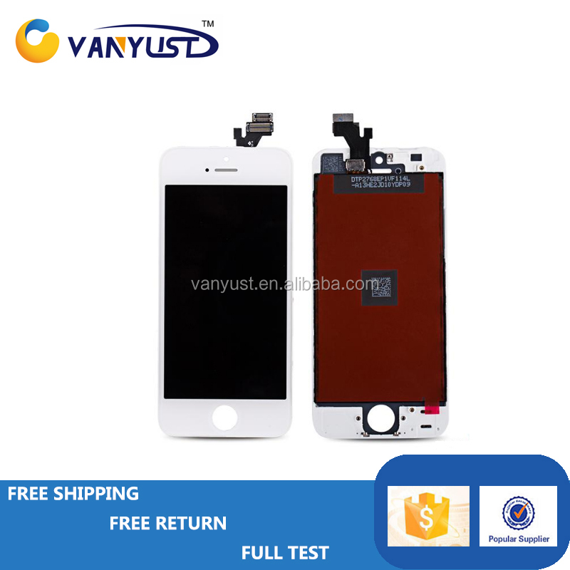 OEM Mobile Phone lcd for iphone 5 5g lcd,for iphone 5 5g screen,for iphone 5 5g lcd screen with Digitizer White