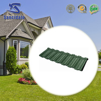 New style full body glazed clay color stone coated steel roof tile