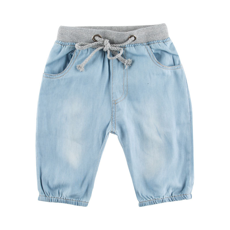 Male child shorts children's clothing 2015 summer kids denim knee-length 100% cotton baby boy pants capris summer short jeans kd