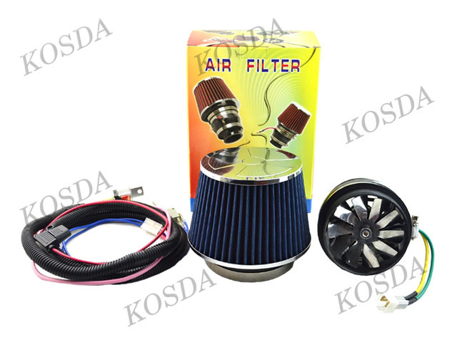 Car Intakes Part 3 inch Blue Air Filter Electric Turbo Charger