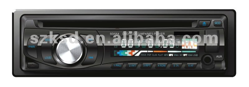 Single Din Car USB SD player CD/DVD/FM front AUX IN
