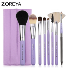 Zoreya High Quality Travel Synthetic Hair Beauty Needs 8Pcs Cosmetic Makup Brush Set