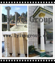 Artificial indoor decorative concrete columns plastic molds