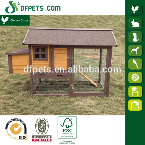 DFPets DFC1401 Chinese Wooden Industrial Building Egg Laying Chicken Coop