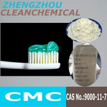 CMC carboxymethyl cellulose used as sizing agent and dying adjuvant to make stock limpidity
