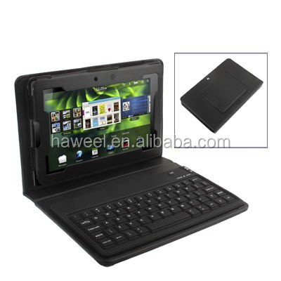 2 in 1 Bluetooth Keyboard Folding Leather Protective Case with Holder for Blackberry Playbook