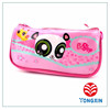 2 pocket pvc carton print pencil case with glitter