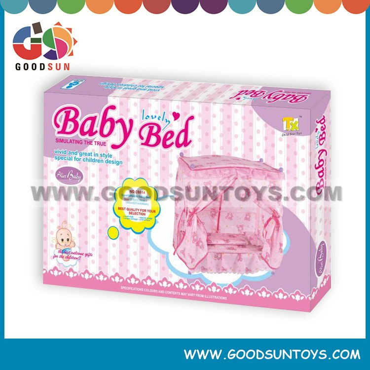 New design metal dolls bed with pillow for doll factory