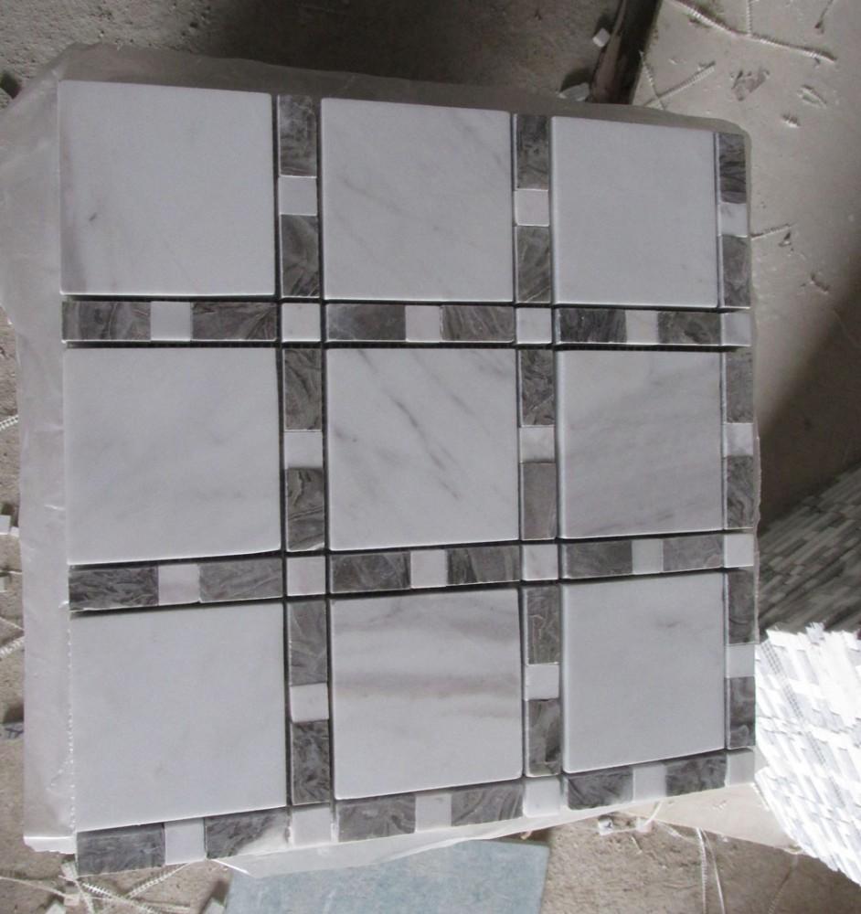 grigio ghiaia mosaico di marmo piastrelle per pavimenti-Mosaico-Id prodotto:60209498913-italian ...