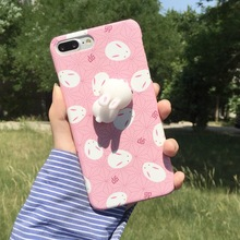 Hot selling Cell Phone Squishy Case 3D Pinching Silicone Soft Cat TPU Back Case for iPhone 6 6plus 7 7plus