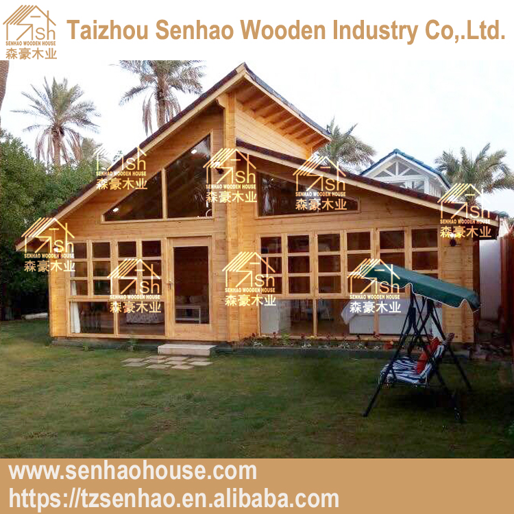Russion pine wood material good quality prefabricated wooden houses best for family living