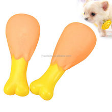 Dog Squeaky Toy Chews Sound Cat Toys Cute Chicken Leg Pet Supplies Puppy Play KA1784