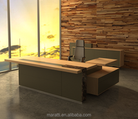 Modern Office Furniture Executive Office Desk with Side Table and Cabinets