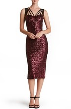 F40229A Hot sale casual sexy spaghetti strap strapless sleeveless with sequins tight skirt party dress for women