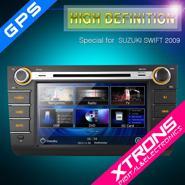 "8"" Ultra-clear Touch Screen GPS Dynamic User Interface Car DVD Player For SUZUKI"