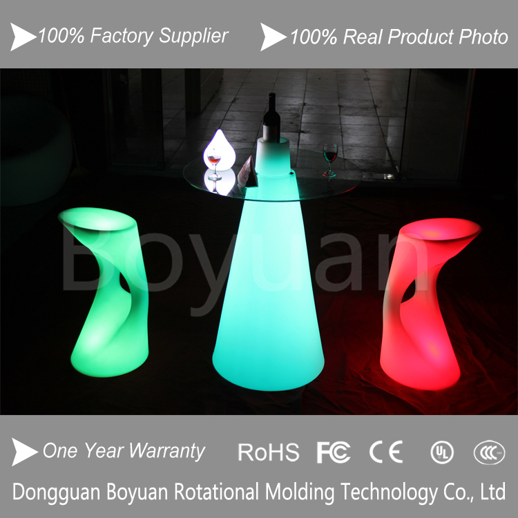 led rotating roller stand cocktail table