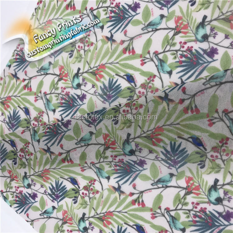 Wholesale high quality digital printing polyester gradient color fabric