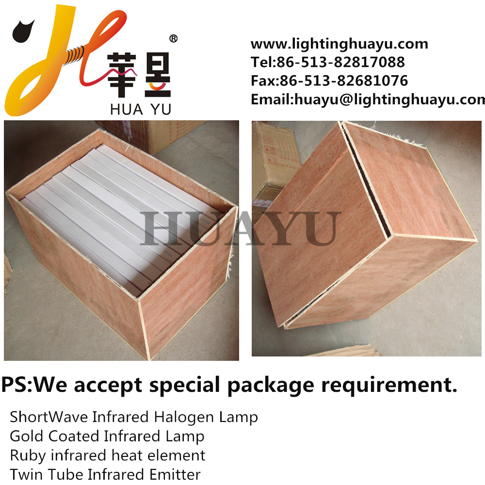 Ceramic Infrared halogen lamp of white reflector