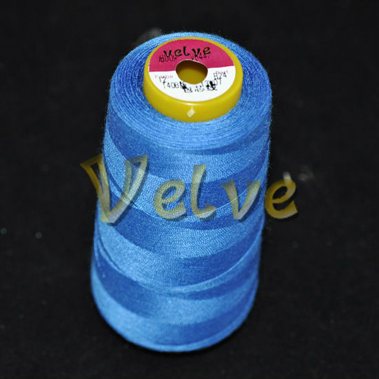 100% cotton wrapped polyester Multicolor core spun sewing thread